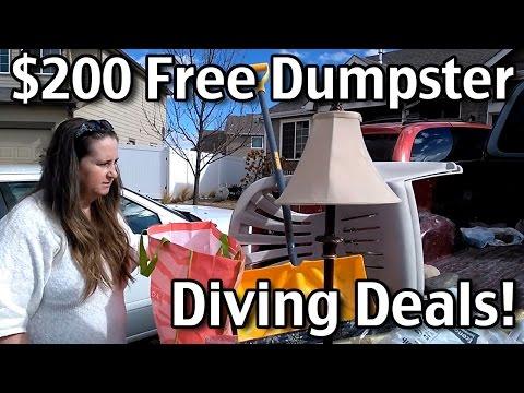 $200 Free Dumpster Diving Deals!