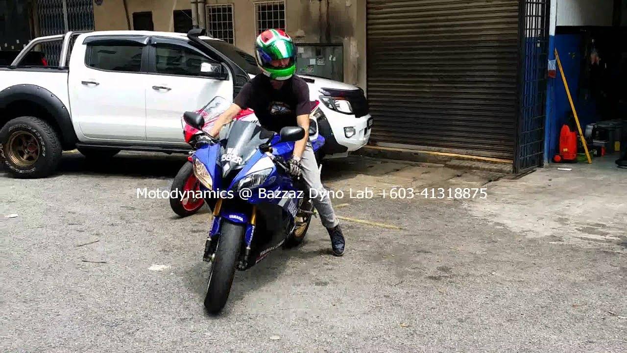 Yamaha R6 Wheelie After Bazzaz Tuning