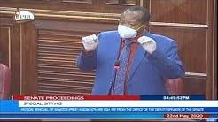 Sen. Ephraim Maina - Senate sitting to oust Kindiki