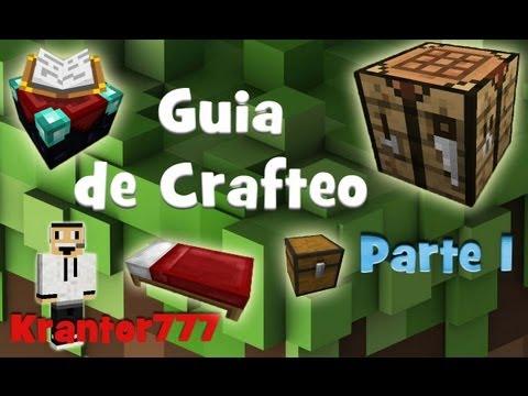 MINECRAFT Guia De Crafteo Básica: Herramientas, Armas, Armaduras Y Otros-Tutorial En Español-Parte 1
