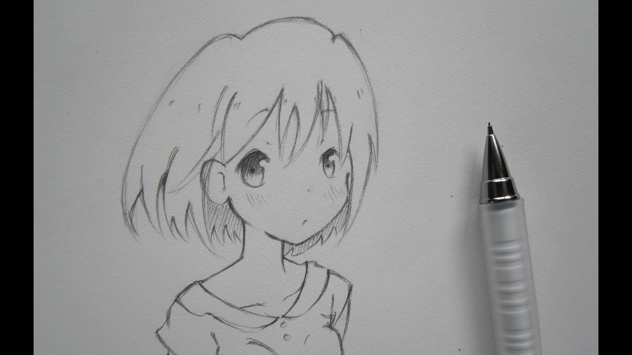 Sketch anime girl