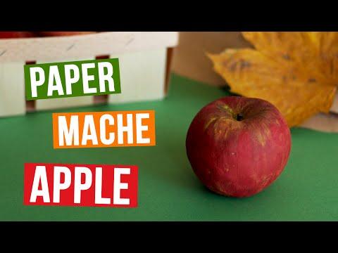 DIY Paper Mache Apple