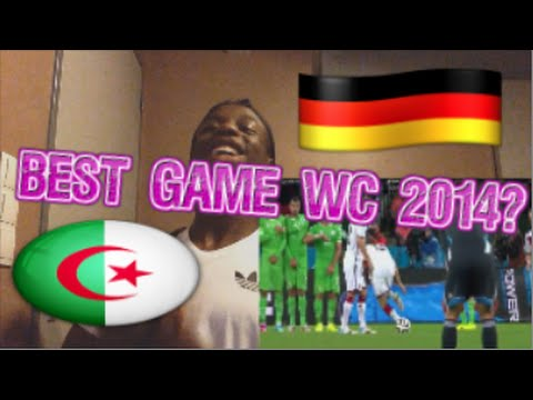 ALGERIA VS GERMANY WORLD CUP 2014 REACTION!!!