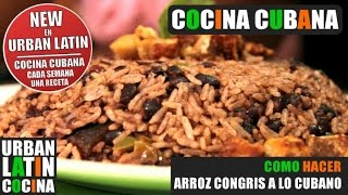 COMO HACER  CONGRI  ARROZ CONGRIS A LO CUBANO (MORO) COCINA CUBANA   RECETA