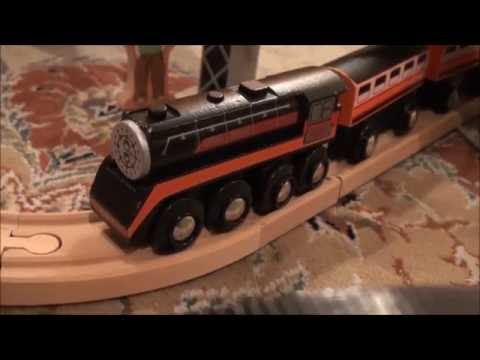 Southern Pacific Daylight 4449 Wooden Railway Meets the Green Steam Engine