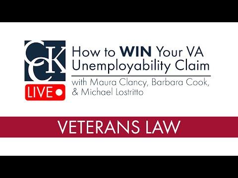 How to WIN Your VA Unemployability Claim - YouTube