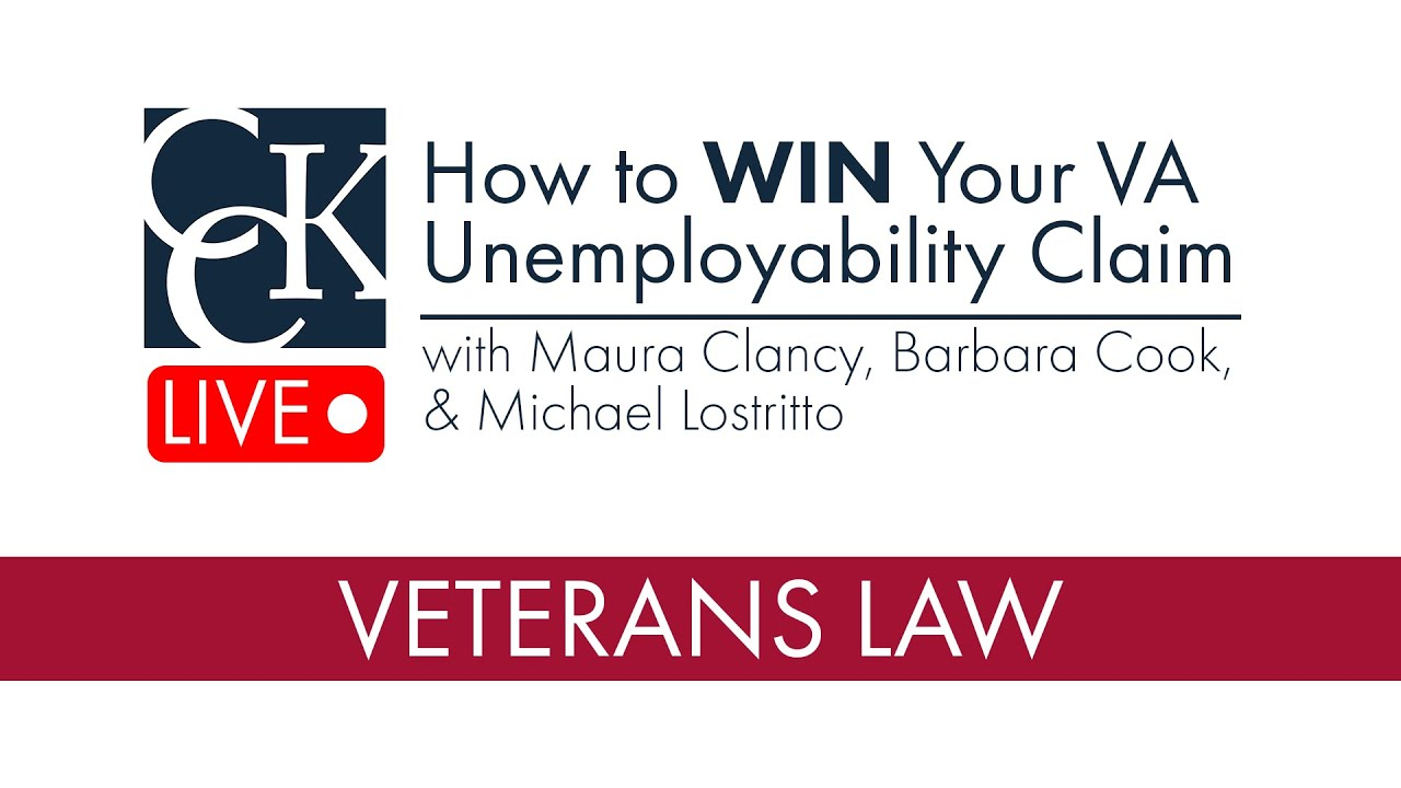 How to WIN Your VA Unemployability Claim