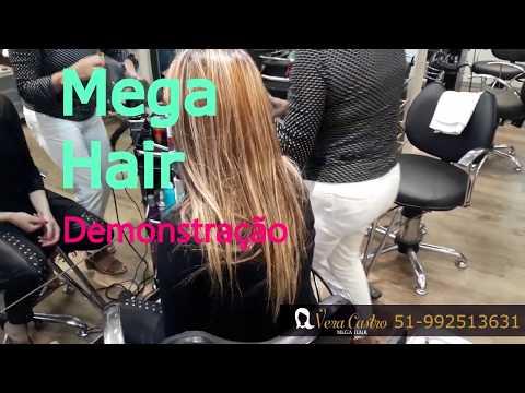 Demonstração da Aplicação de Mega Hair - Ponto Americano