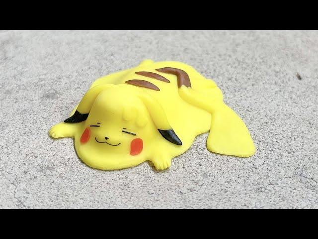 【粘土】暑すぎて溶けるピカチュウ 作ってみた【ポケモン】Pokemon Pikachu - Polymer Clay