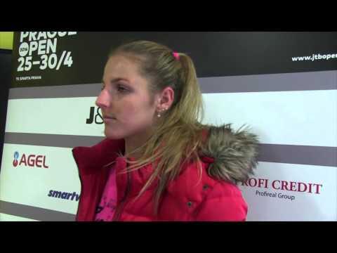 Kristýna Plíšková po kvalifikačním finále na J&T Banka Prague Open