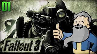 "Fallout 3 Gameplay Walkthrough Part 1 - ""Genny The Jerk!!!"" 1080p HD"