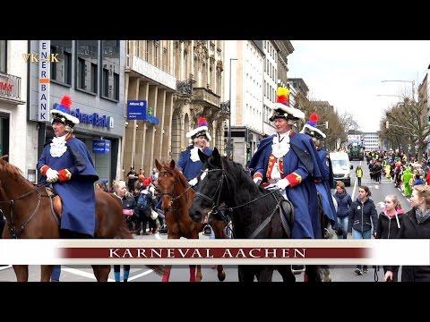 Rosenmontagszug Aachen 2017, Karneval Aachen in 4K