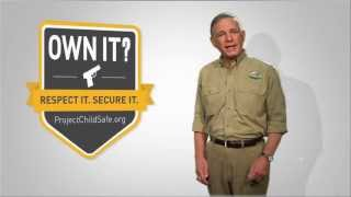 Lock Up Your Guns When Not in Use. Own It? Respect It. Secure It. Project ChildSafe - Firearm Safety