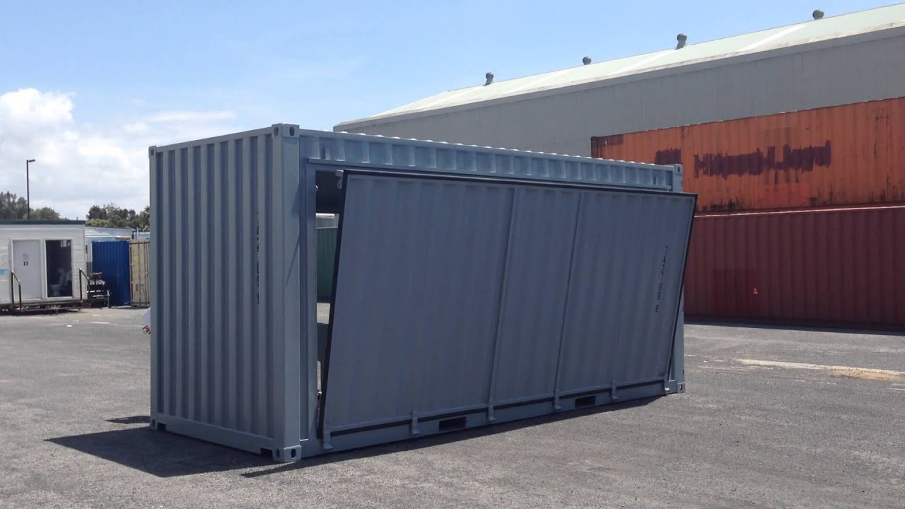 how to support a shipping container with 8 ft beams