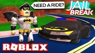 ¡¡¡DANDO PRISAS A LOS PRISIONEROS EN EL BATMOBILE!! (Roblox Jailbreak)