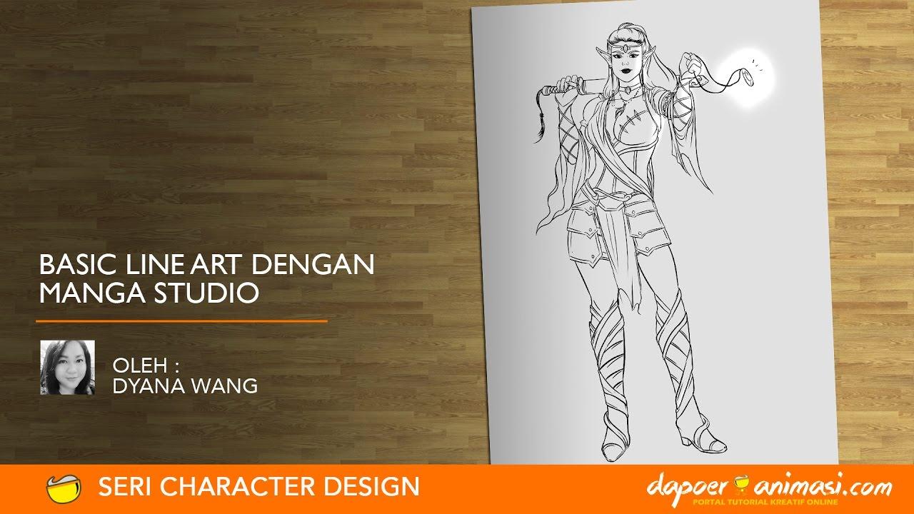 Line Art Studio Karawaci : Dapoer animasi basic line art dengan manga studio oleh