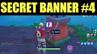 Fortnite Week 4 Secret Banner Location! Season 8 (Find the Hidden banner In Loading Screen #4)