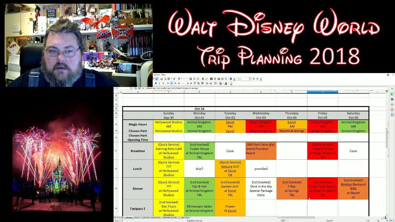 disneyworld planning for 2018 the planning spreadsheet