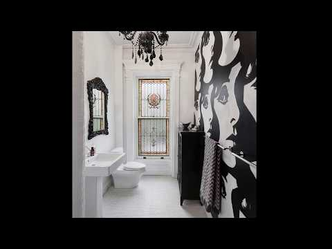 черно-белая в фото ванной плитка