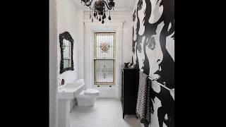 Черно-белая плитка для ванной модерн
