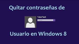 Quitar contraseñas de Usuario en Windows 8 con Hiren