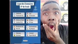 Ligue des champions 8ème de finale 2019 débrief du tirage   Lyon-Barcelone  Manchester united-Paris