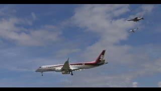【速報】MRJ 初飛行!!離陸&着陸 Mitsubisi regional jet Takeoff & Landing