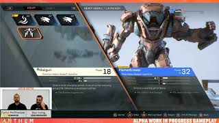 Anthem Live stream 12-13-18 Loot, Gear and Progression
