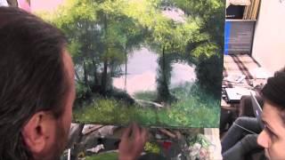 Летний пейзаж, Игорь Сахаров, уроки рисования и живописи в Москве