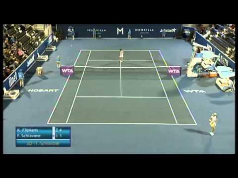 Kristen Flipkens vs Francesca Schiavone, Moorilla Hobart International 2013