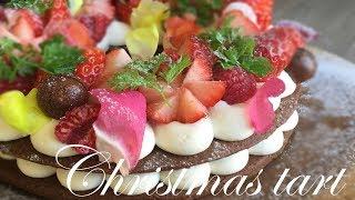 christmas cheesecake tart recipeASMR cooking