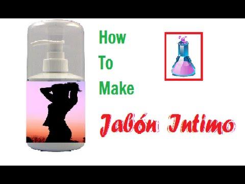 Como hacer jabon liquido intimo casero