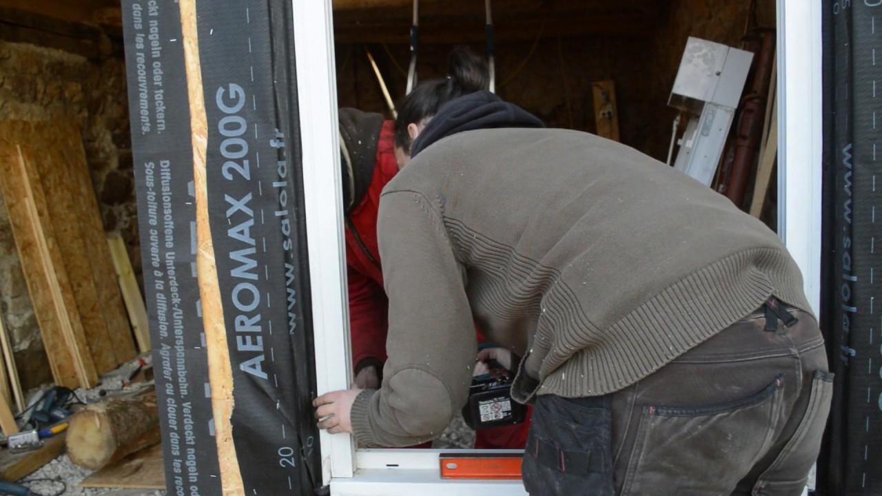 atelier d 39 artiste pisode 70 pose en tunnel ou tableau d 39 une fen tre pvc r cup ossature bois. Black Bedroom Furniture Sets. Home Design Ideas