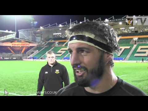 Tom Wood Reaction to Saints victory over Scarlets | Rugby Video Highlights