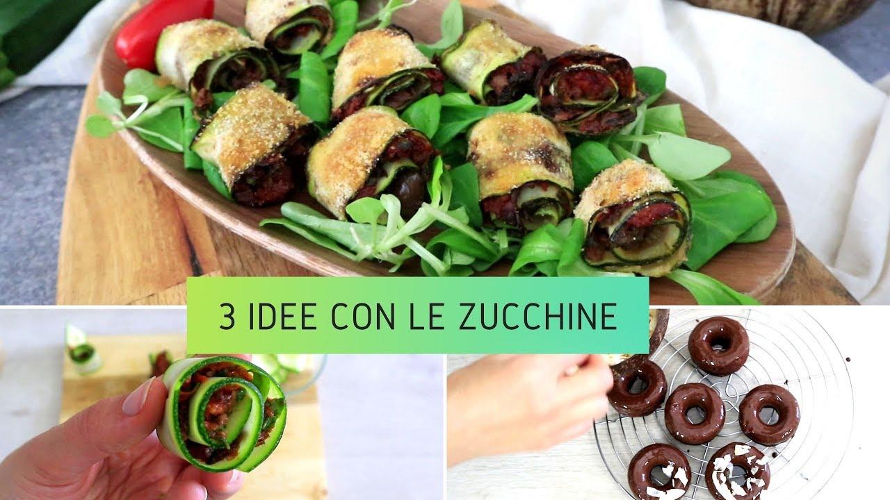 3 IDEE e RICETTE per CUCINARE le ZUCCHINE | Roll ripieni, Tacos di zucchine  e Ciambelline glassate
