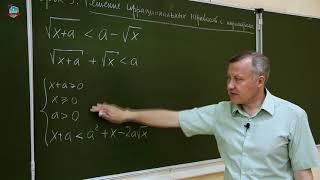 Решение уравнений и неравенств с параметрами. Урок 5. Иррациональные неравенства с параметрами