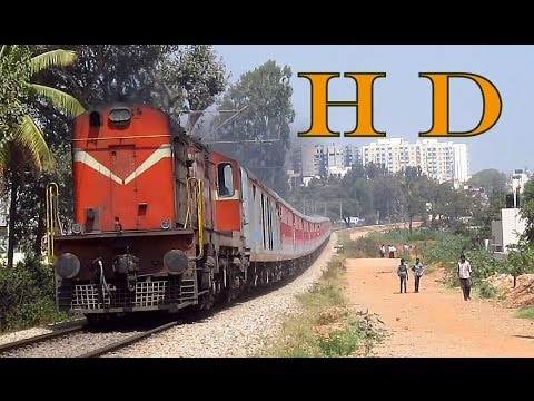 Magnificient Diesel Locomotives hauling Indore Yesvantpur Special Express - Indian Railways