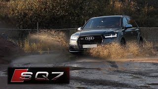 2016 AUDI SQ7 IN ACTION - SOUND, OFF ROAD ACTION & ACCELERATIONS!