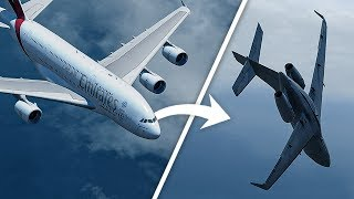 Airbus A380 Causes this Jet to Almost Crash Into the Ocean | Emirates Flight 412 & D-AMSC
