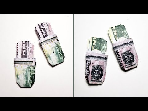 Money SLIPPERS Origami Shoes Dollar Tutorial DIY Gift