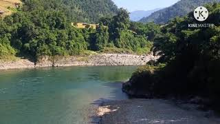 View of Siyom river | Suspension bridge almost demaged