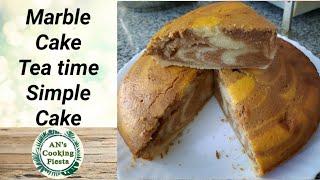 Marble Cake   Zebra Cake   Tea time cake   AN's Cooking Fiesta