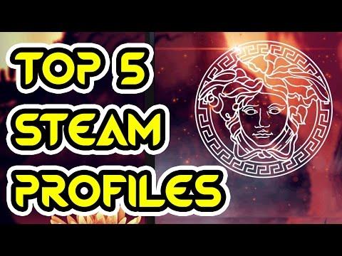 #1: TOP 5 STEAM PROFILES - TOP ARTWORK STEAM, BEST DESIGNS, BEST ANIMATIONS