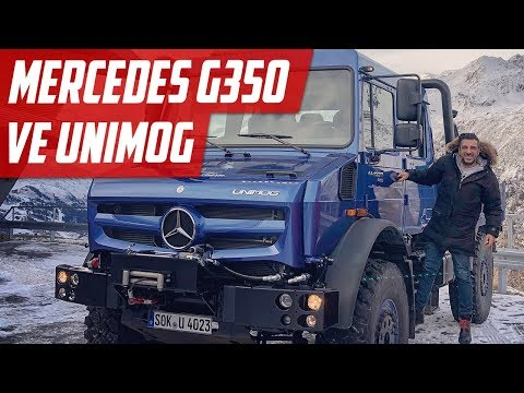 Yeni Mercedes G350 ve Unimog | Alpler'de Kullandık