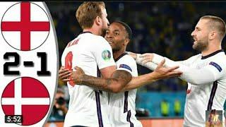 ملخص مباراة منتخب إنجلترا و الدانمارك/  مبارة قوية