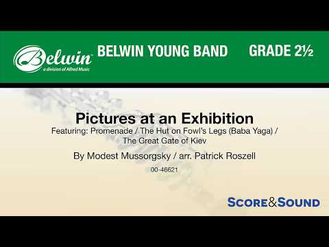Pictures at an Exhibition, arr. Patrick Roszell – Score & Sound