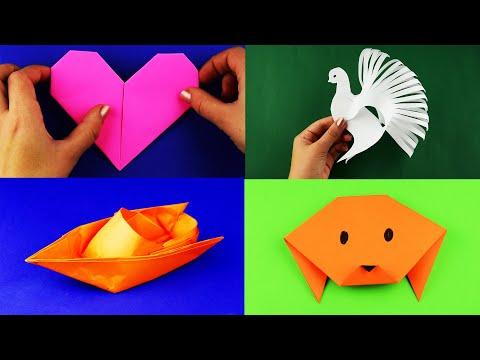 15 легких оригами и простых поделок из бумаги