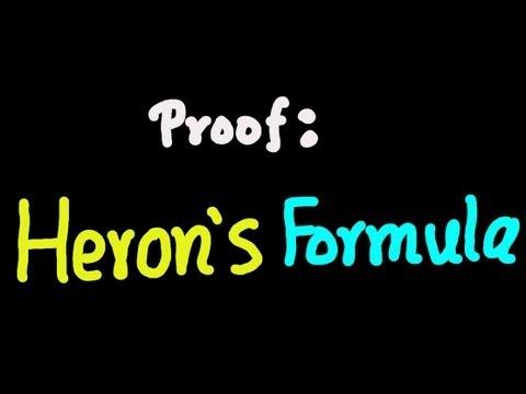 Proof: Heron's Formula