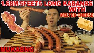 [MUKBANG] 4 MASSIVE KABANAS!! 1.68M LONG+MELTED CHEESE-BIG BITES