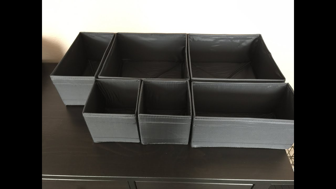 ikea skubb drawer organizers review youtube. Black Bedroom Furniture Sets. Home Design Ideas